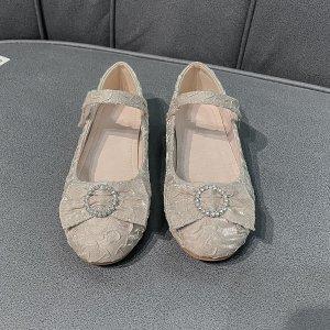 Для девочек Туфли мэри джейн SHEIN. Цвет: aбрикосовый