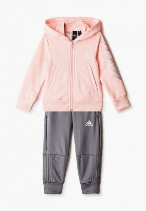 Костюм спортивный adidas G HOOD PES TS. Цвет: разноцветный
