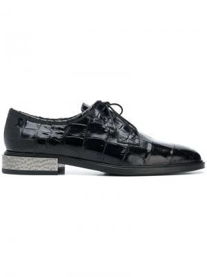 Metal heel lace-up shoes Alberto Gozzi. Цвет: синий
