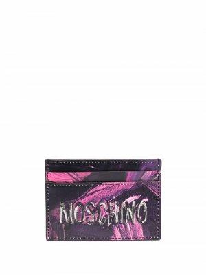 Картхолдер с логотипом Moschino. Цвет: фиолетовый