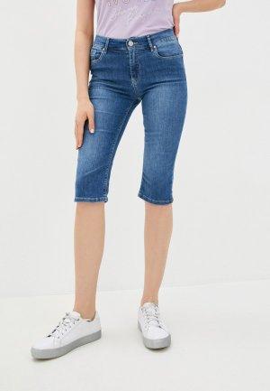Шорты джинсовые Whitney. Цвет: синий