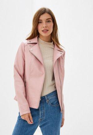 Куртка кожаная Elardis. Цвет: розовый