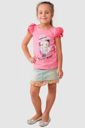Футболка Betty Boop. Цвет: розовый