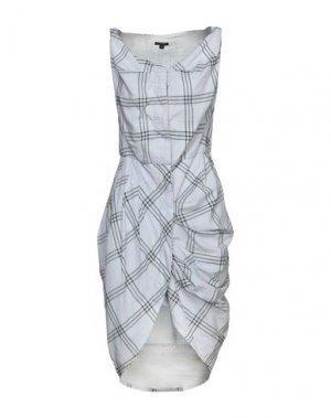 Платье до колена FULL CIRCLE. Цвет: светло-серый