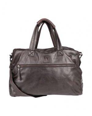 Дорожная сумка FREAKY NATION. Цвет: темно-коричневый