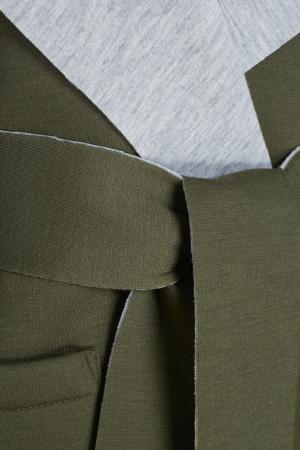 Хлопковое пальто BLANK.MOSCOW. Цвет: зеленый