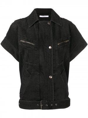 Джинсовая куртка с короткими рукавами Givenchy. Цвет: черный