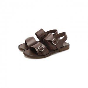 Кожаные сандалии Jarrett. Цвет: коричневый