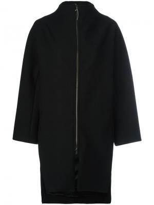Объемное пальто Ilaria Nistri. Цвет: чёрный