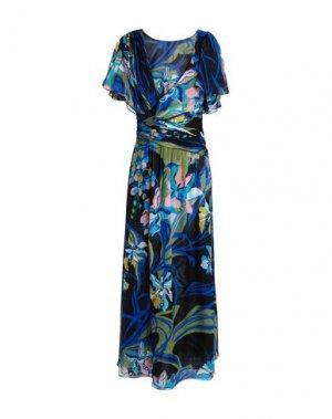 Длинное платье EMILIO PUCCI. Цвет: синий