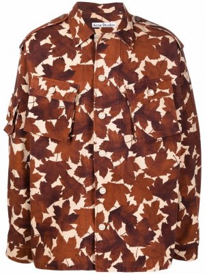Куртка с принтом Acne Studios. Цвет: коричневый