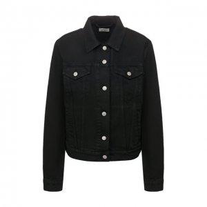 Джинсовая куртка Dries Van Noten. Цвет: чёрный