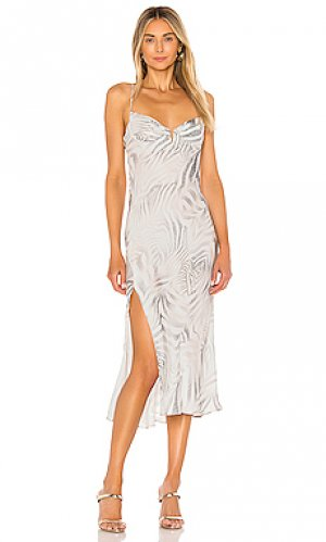 Платье-комбинация wildflower Sun Becomes Her. Цвет: белый