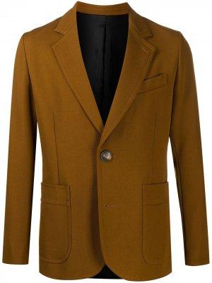 Однобортный пиджак AMI Paris. Цвет: коричневый