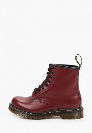 Ботинки Dr. Martens 1460 SMOOTH. Цвет: бордовый