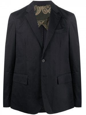 Однобортный пиджак Golden Goose. Цвет: синий