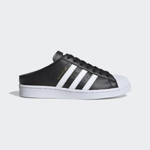 Кроссовки-слипоны Superstar Originals adidas. Цвет: черный
