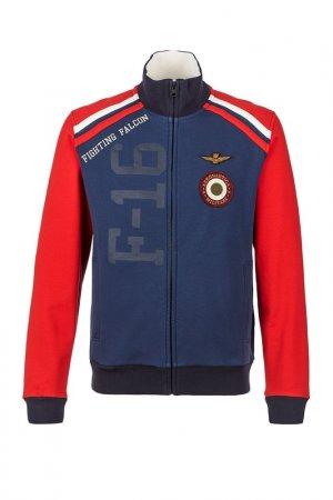 Толстовка Aeronautica Militare. Цвет: синий