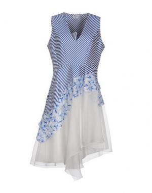 Платье миди PHILOSOPHY di ALBERTA FERRETTI. Цвет: синий