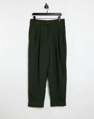 Укороченные брюки хвойно-зеленого цвета -Бежевый BB Dakota