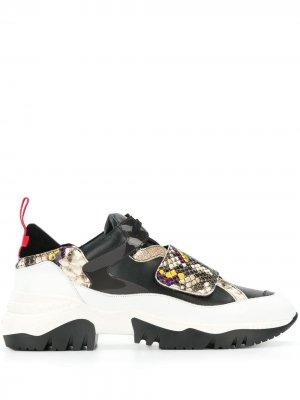 Кроссовки в стиле колор-блок A.F.Vandevorst. Цвет: черный