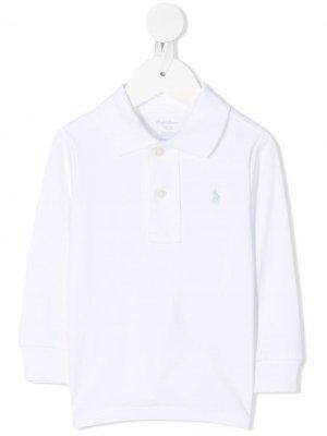Рубашка поло с вышитым логотипом Ralph Lauren Kids. Цвет: белый