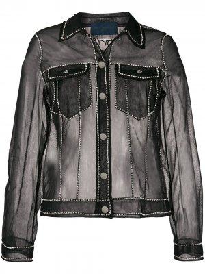 Прозрачная куртка Viktor & Rolf. Цвет: черный