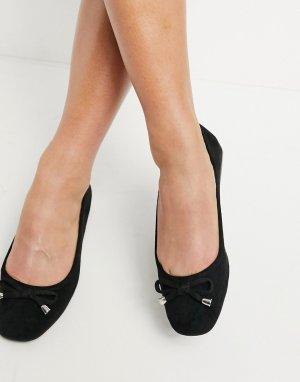 Черные балетки -Черный Miss Selfridge