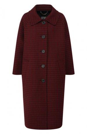 Шерстяное пальто Runway Marc Jacobs. Цвет: красный