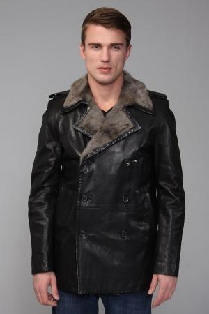 Куртка кожаная Seraphin. Цвет: черный