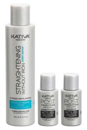 Набор для выпрямления волос Kativa. Цвет: голубой
