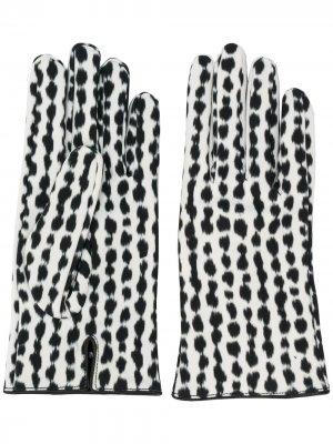 Перчатки с абстрактным узором Raf Simons. Цвет: белый
