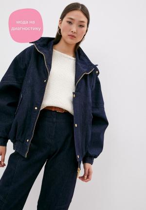 Куртка джинсовая Alberta Ferretti. Цвет: синий