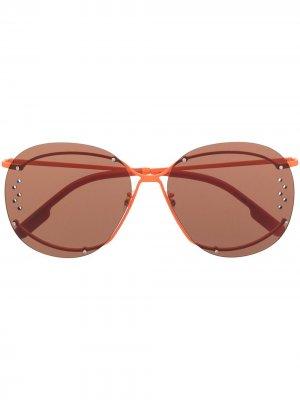 Декорированные солнцезащитные очки Kenzo. Цвет: оранжевый