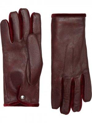Перчатки с кашемировой подкладкой Burberry. Цвет: красный
