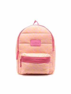 Logo-patch zip-up backpack The Marc Jacobs Kids. Цвет: розовый