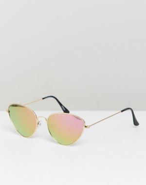 Солнцезащитные очки кошачий глаз Inspired-Золотой Reclaimed Vintage