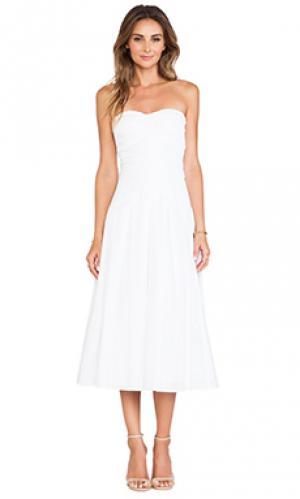 Платье без бретель gia Catherine Malandrino. Цвет: белый