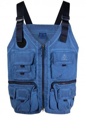Жилет Watchman Peak с карманами Nike. Цвет: синий