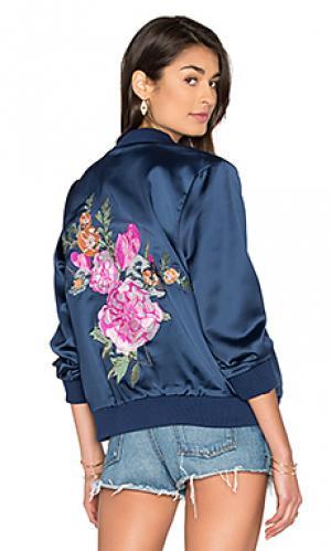 Куртка rose bowl MAJORELLE. Цвет: синий