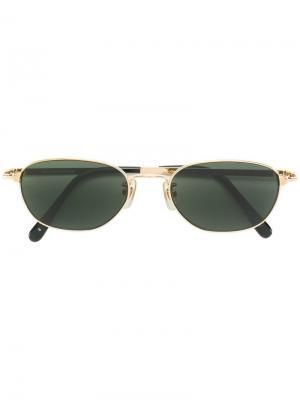 Солнцезащитные очки 1990-х годов в овальной оправе JC de Castelbajac Pre-Owned. Цвет: черный