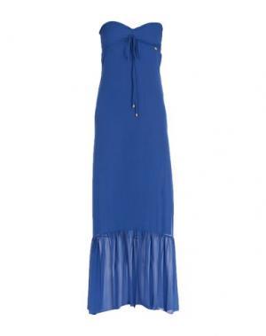 Длинное платье MANGANO. Цвет: синий