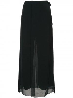 Креповые брюки Eva Elie Tahari. Цвет: синий
