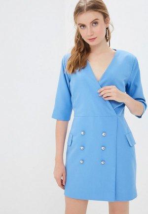 Платье GALOLBO. Цвет: голубой