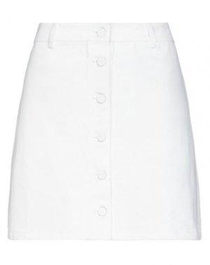Джинсовая юбка LAZY OAF. Цвет: белый