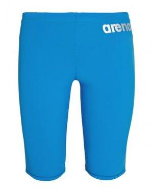 Спортивные купальники и плавки ARENA. Цвет: лазурный