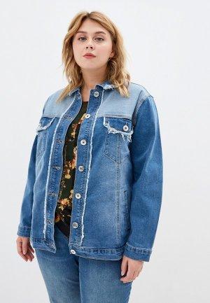 Куртка джинсовая Studio Untold. Цвет: голубой