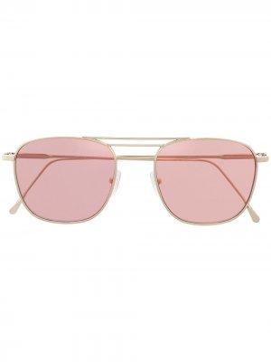 Солнцезащитные очки в квадратной оправе Eleventy. Цвет: золотистый