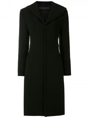 Пальто узкого кроя Gloria Coelho. Цвет: черный