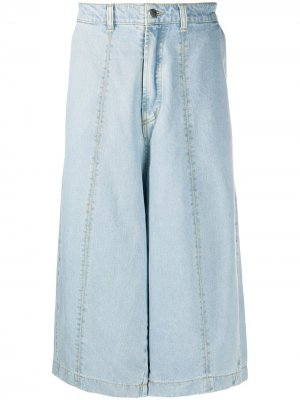 Укороченные джинсы широкого кроя Société Anonyme. Цвет: синий